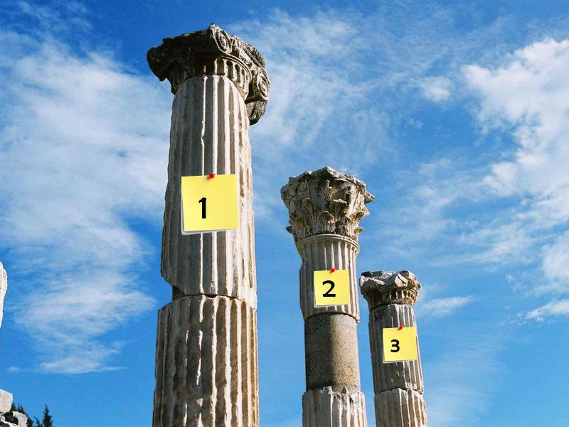 Romeinse Zuilen om je presentatie te structureren