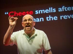 Bart Knols tijdens zijn TED-Talk