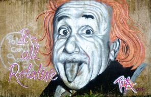 einstein graffiti by kennysarmy2