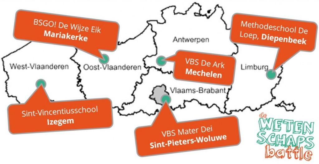 scholen per provincie