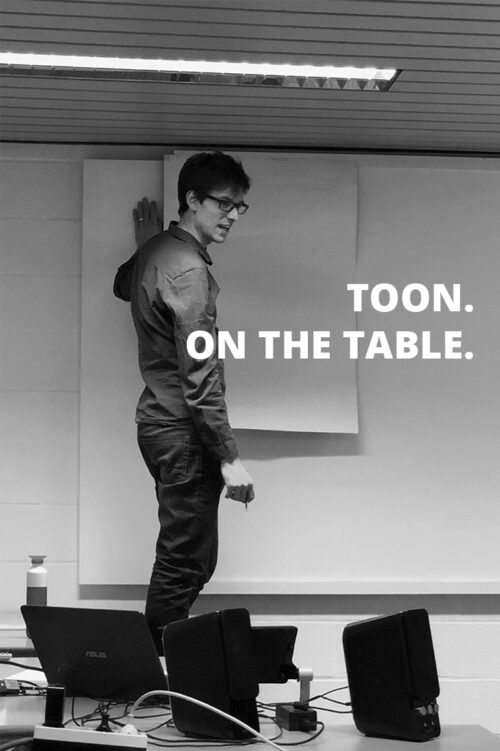 Toon on the table